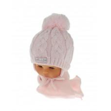 Czapeczka zimowa niemowlęca 42-46 rólżowa  131